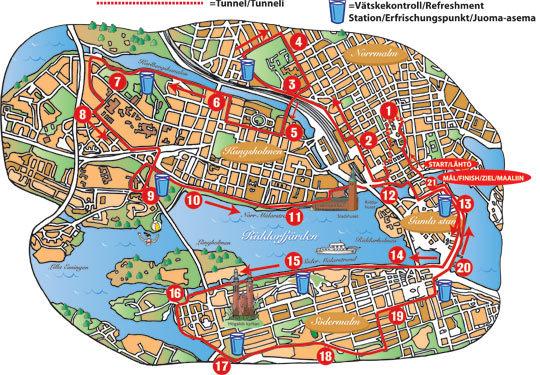 Stockholm Halvmarathon justerar banan