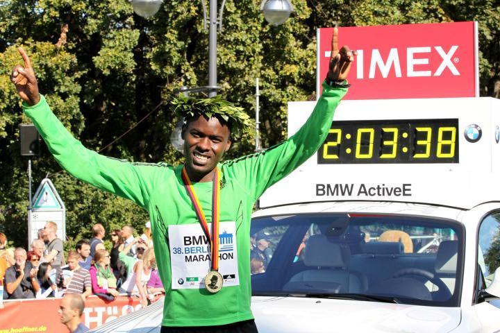 Patrick Makau slog världsrekord i Berlin