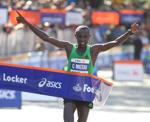 Geoffrey Mutai krossade rekordet i NYCM
