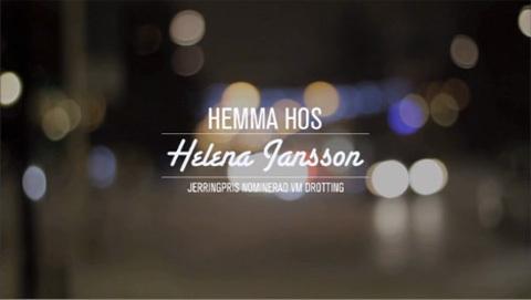 På middag hemma hos Helena Jansson