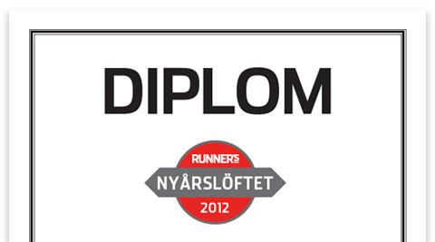 Ladda ner ditt diplom för Nyårslöftet 2012