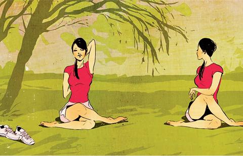 Yoga kan vara bra träning mot löparknä