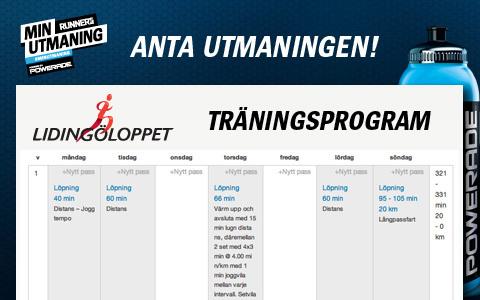 Våra träningsprogram för Lidingöloppet