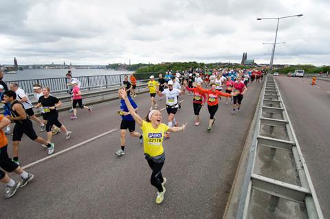Besegra väggen i Stockholm Marathon