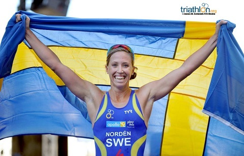 Triathlonfest när Lisa vann i Stockholm