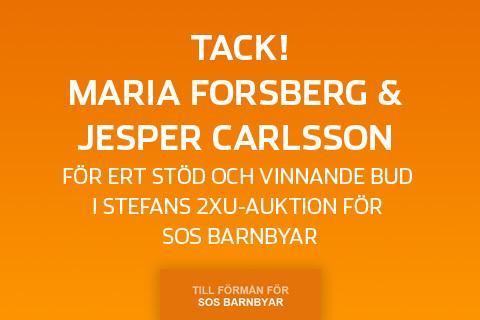 Ett stort SOS-tack till Maria och Jesper