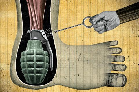 Löpares skador: Hälseneinflamation