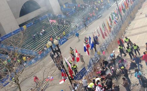 Bomber exploderade vid Boston Marathon