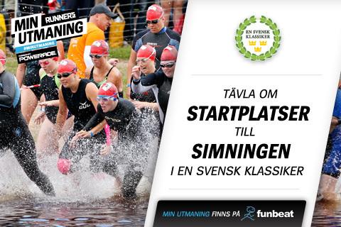 Vinn plats i En Svensk Klassikers simning