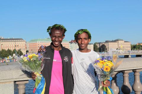 Löparfest på Stockholm Halvmarathon