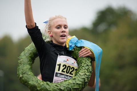 Sandra Eriksson laddar för Lidingöloppet