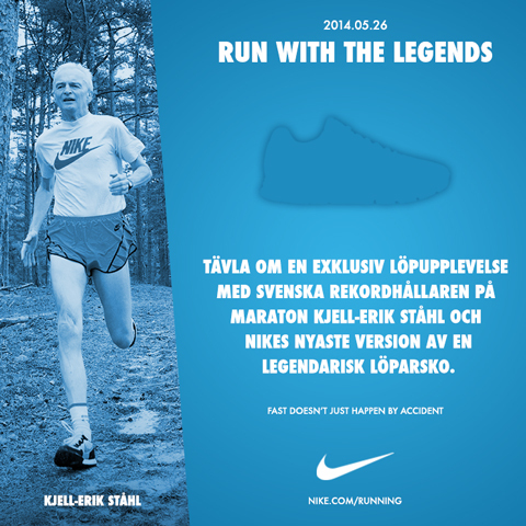 "Vinn en plats till ""Run with the legends"""