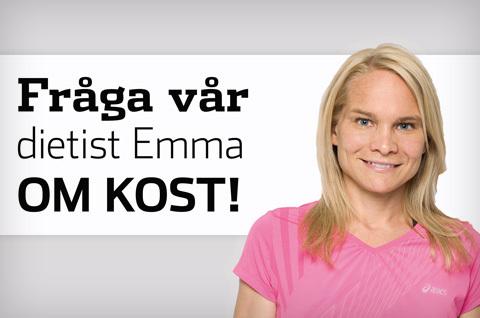 Fråga vår nya dietist Emma om kost!