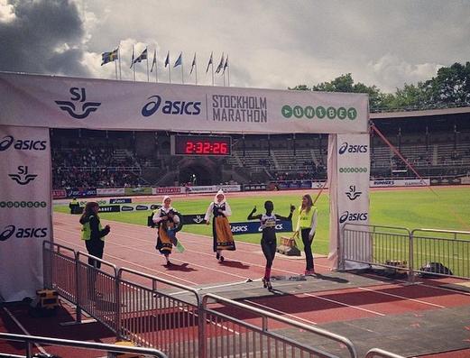 Isabellah vann Stockholm Marathon 2014