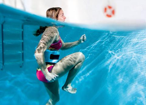 Vattenträning ger svalkande variation