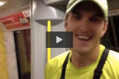 Se killen som vinner över tunnelbanan!