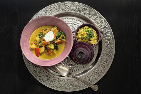 Löparmat: Curry- och kikärtsgryta