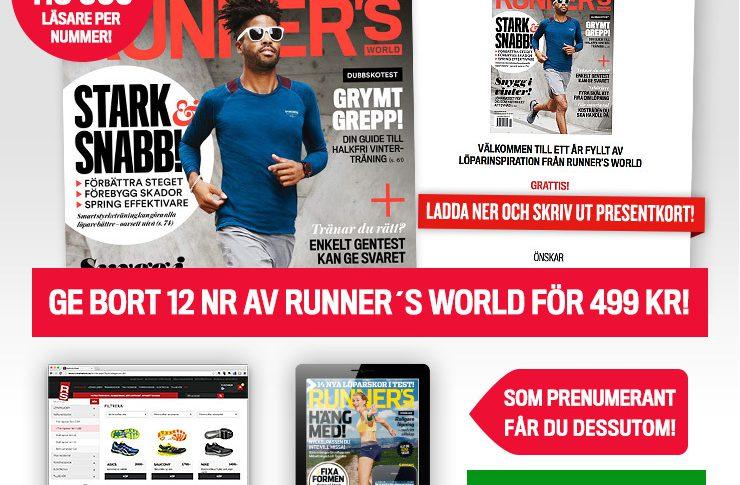 Ge bort 12 nr Runner's World för 499 kr!
