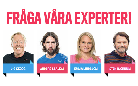 Här kan du ställa alla dina löparfrågor till våra experter!