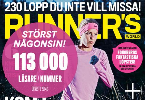 Runner's World fortsätter växa – nu 113 000 läsare!