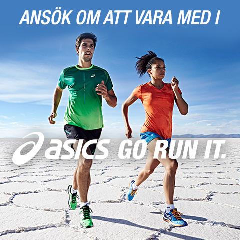 Ansök om att bli med i ASICS GO RUN IT och få nya löparutmaningar hela året.