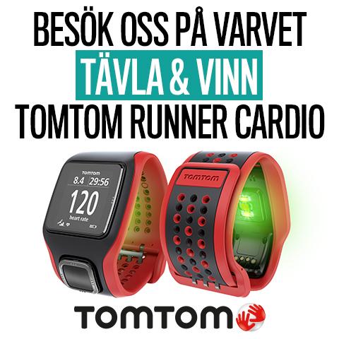Vinn TomTom Runner Cardio när du besöker oss på GöteborgsVarvet