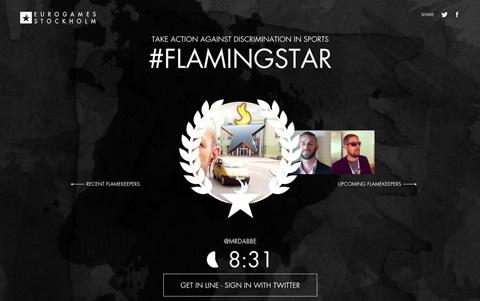 Kampanjen #FlamingStar vill motverka diskriminering inom sport