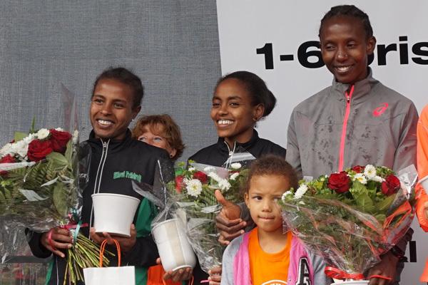 Överlägsen etiopisk seger i Tjejmilen 2015