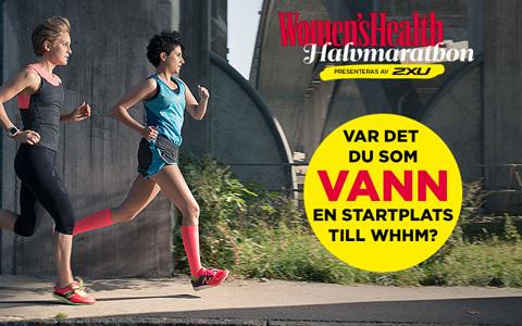 Vann du en startplats till Women's Health Halvmarathon?