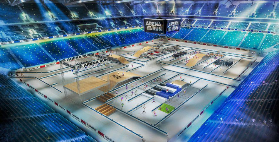 Här är första bilden på Arena Runs bana!