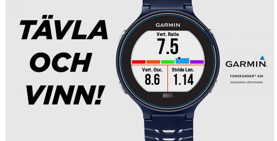 Tävla & vinn en Forerunner 630 – Garmins mest avancerade löparklocka!
