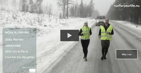 1000 löpare springer från Arktis till Paris för miljön i Run for your life