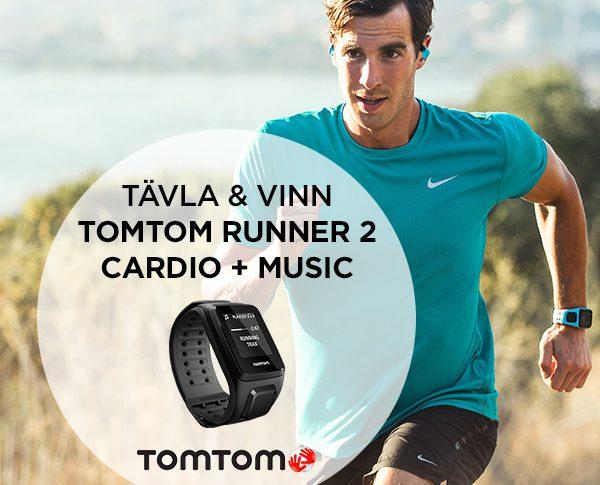 Vinn och bli testpilot för löparklockan Runner 2 Cardio + Music från TomTom