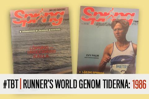 #TBT | Runner's World genom tiderna: 1986