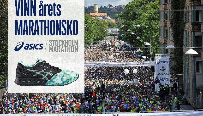 Tävla om nya skon ASICS fuzeX Stockholm Marathon edition 2016