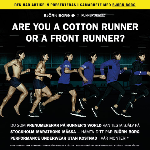 Få ett par Björn Borg Performance Underwear på Stockholm Marathon!*