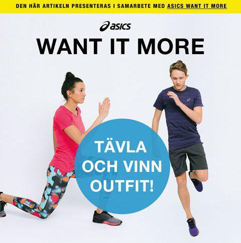 Tävla och vinn träningskläder från ASICS!