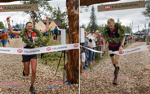 Ida Nilsson och Anders Kleist vann Axa Fjällmaraton