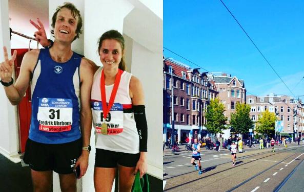 Louise Wiker storkrossade personbästa på Amsterdam Marathon
