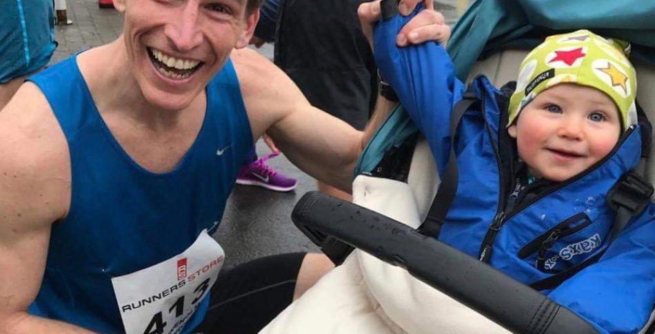 Barnvagnsrekord:  33.45 på milen av Henrik & Irma