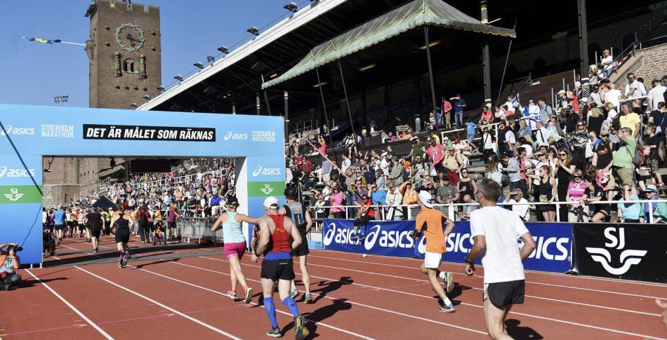 Nya bansträckningen för Stockholm Marathon i mål