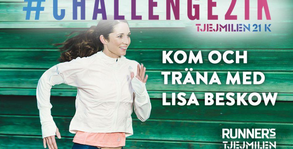 Kom och träna med #Challenge21K och Lisa Beskow!