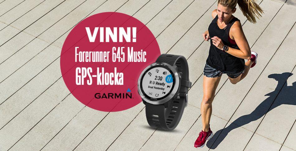 Grattis – här är vinnaren av Garmin Forerunner 645 Music!