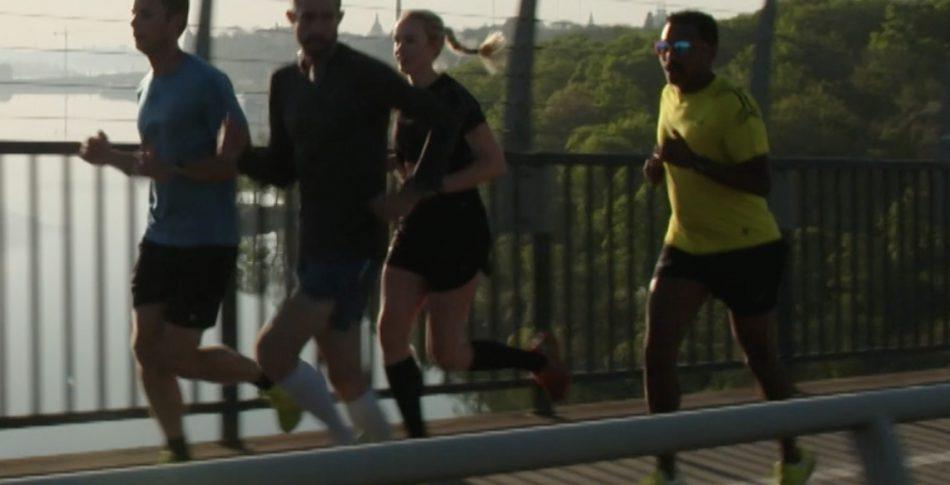 Sista delen av maratonbanan i Sverige Springer