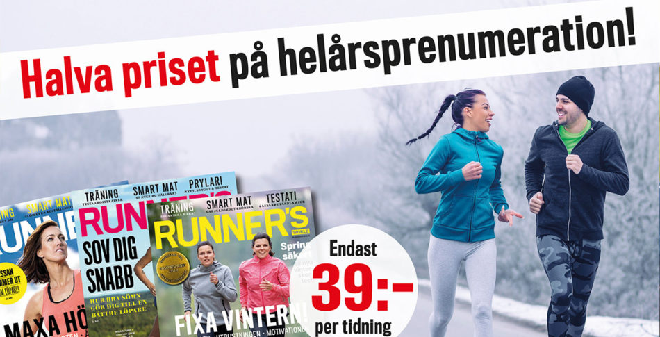 50% rabatt på Runner's World-prenumeration!