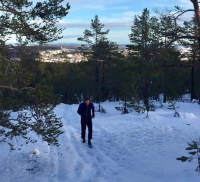 Löpning i snö