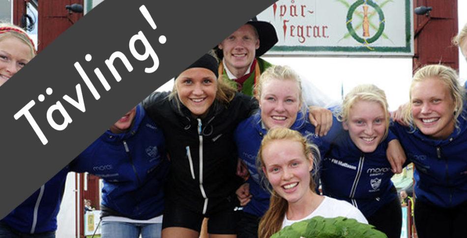 Tävling – Vasakvartetten – 4 löpare delar på 90 km