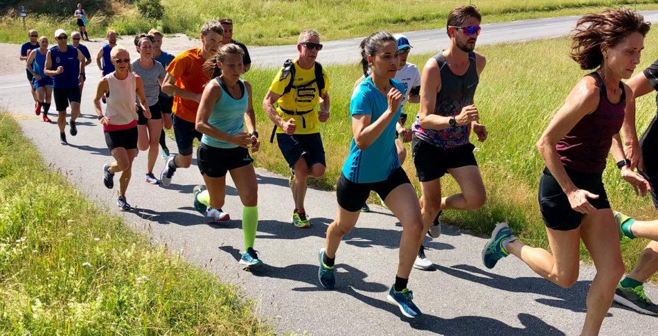 Sprintbacke och intervaller i We Who Run Club