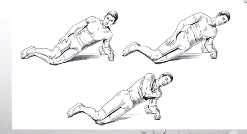 sidoplanka ryggövningar