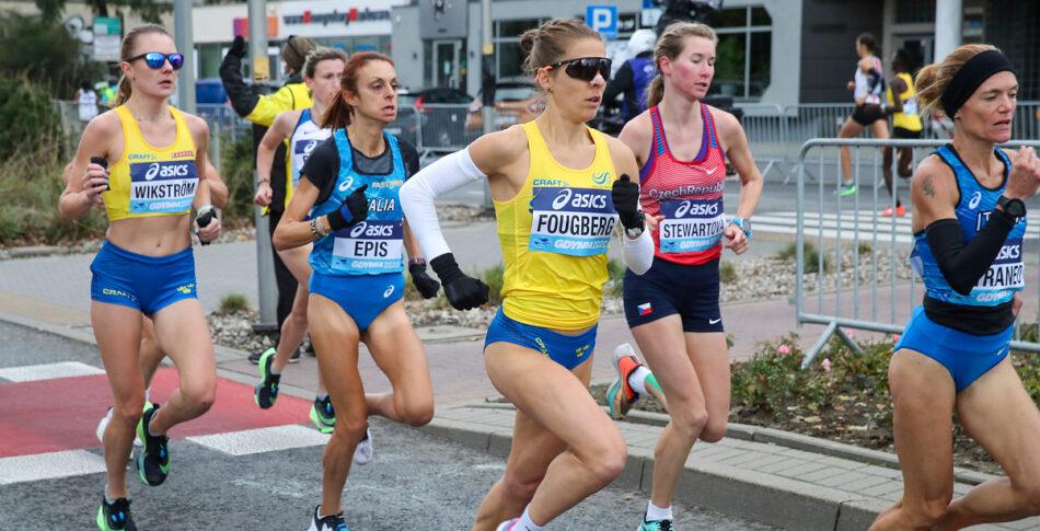 Charlotta och David imponerade på VM i halvmaraton